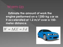 Estimate Work For Car by Chapter 6 Linear Momentum And Collisions Ppt