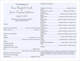 vow renewal program templates free wedding program word templates wedding bulletin templates