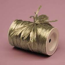 raffia ribbon 1 4 metallic gold raffia ribbon 1 100yd roll for photography