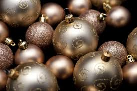 photo of golden christmas baubles free christmas images