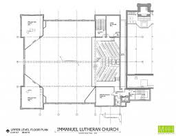 Church Floor Plan by Upstairs Floor Plan Immanuel Lutheran Church And