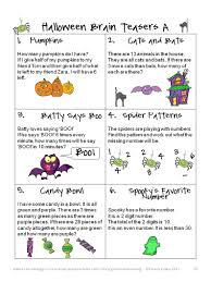 Halloween Activity Sheets And Printables Math Brain Teasers It Has Halloween Math Brain Teasers