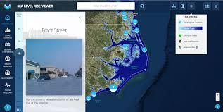 Florida Sea Level Rise Map by Noaa U0027s Sea Level Rise Viewer May 12 2017 North Carolina King