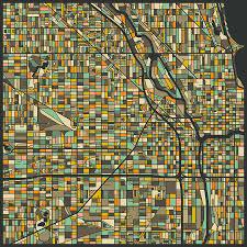 Taste Of Chicago Map Chicago Map Williamsburg Map