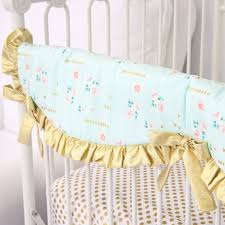 coral and gold sparkle baby bedding caden lane