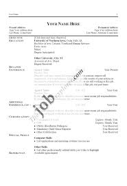 Resume For University Job by Examples Of Resume For Job Application