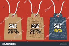 retro vintage tag cards sale stock vector 361993940