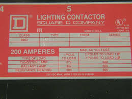 square d lighting contactor panel 8903 sv02 square d
