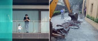 Shahrukh Khan House Bollywood Actor Shah Rukh Khan U0027s Sons Watch The Bmc Demolishing