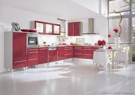 Red Kitchen With White Cabinets Kitchen Idea Of The Day Red Reminds Us Of Roses Race Cars And
