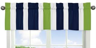 Blue Curtain Valance Amazon Com Sweet Jojo Designs Navy Blue White And Lime Green