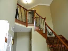 Iron Banisters And Railings Wood Stairs And Rails And Iron Balusters New Wood Stair With Iron