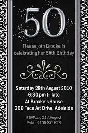 50th birthday invite templates 24 best 50th birthday invitation