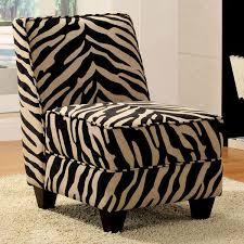 zebra print accent chair decor black white animal modern armless
