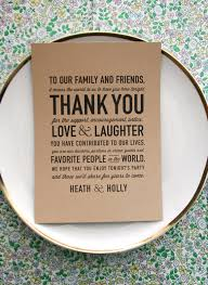 50 wedding acts of kindness 42 include a thank you card at each