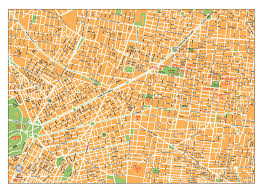 Mexico Map Cities by Mexico City Vector City Maps Eps Illustrator Freehand Corel