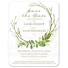 Affordable Save The Dates Greenery Foliage Wedding Save The Date Card Watercolor Leaves