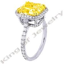 canary engagement rings 6 02 ct canary fancy yellow engagement ring egl