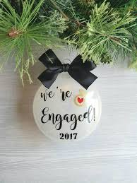 engagement ornament wedding ornament engaged ornament