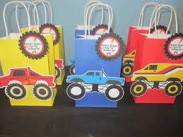 monster truck jam party supplies monster goody bags 10 monster truck bags party bags monster truck
