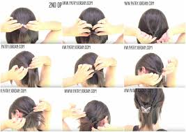 easy hairstyles for short hair step by step dailymotion diy aug
