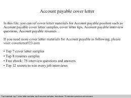 Sample Of Accounts Payable Resume by Account Payable Cover Letter 1 638 Jpg Cb U003d1409260447