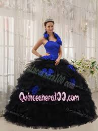 and black quinceanera dresses made flowers halter quinceanera dress in blue and black