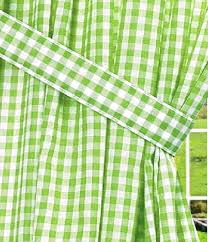 Green Checkered Curtains Lime Green Gingham Check Window Long Curtain Available In Many
