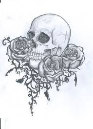 skull and roses tattoo nick davis artist art 224 card deck
