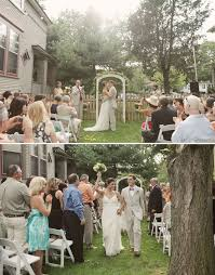 Wedding In Backyard by Real Wedding Denise Dave U0027s Sweet Backyard Wedding Green