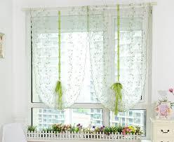 rideaux pour cuisine rideau pour cuisine design feuille conception rustique blanc rideau