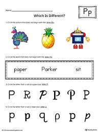 letter p which is different worksheet color myteachingstation com