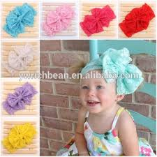 baby headwraps new coming floppy big lace bow headband for baby wrap top