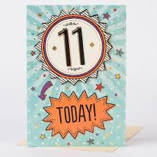 11th birthday card happy birthday to you 11 today only 79p