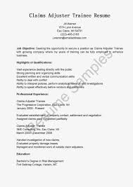 resume claims adjuster trainee resumes hotel attendant resumes