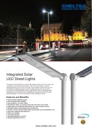 Solar Led Street Lighting by Integrated Solar Led Street Lights Eneltec Group