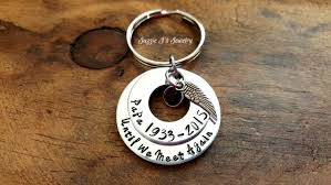 remembrance keychain personalized until we meet again keychain custom personalized