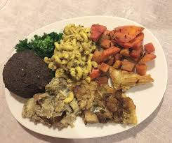my delicious all vegan thanksgiving meal from the cinnamon snail