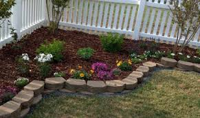 landscaping for corners of fenced in yard unique landscape