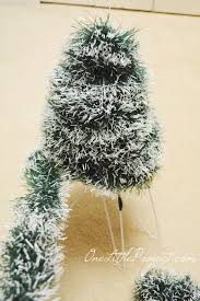 wire christmas tree with lights diy wire hanger christmas tree tutorial