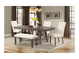 elements international jax rustic dining set with bench miskelly