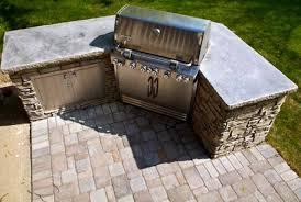Outdoor Kitchen Grills Stone Outdoor Kitchen Traditional Patio Omaha By Olive Branch
