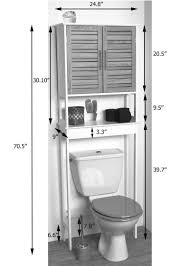 over the toilet space saver cabinet bath furniture white
