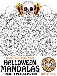 Printable Scary Halloween Coloring Pages by Halloween Mandala Coloring Page 2spooky Printable Spooky