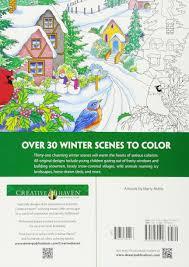amazon com creative haven winter scenes coloring book