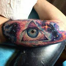 space with eye of horus on we it