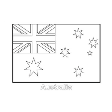 australian flag coloring page to really encourage to color page