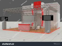 Exhibition Reception Desk Exhibition Stand Advertising Stand Hall Interior Stock