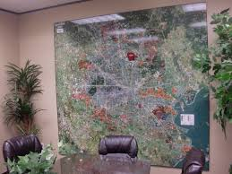 Wall Map Murals Houston Aerial Wall Map Mural And Digital Imagery Landiscor Real