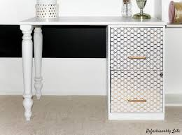 diy file cabinet desk refashionablylate com